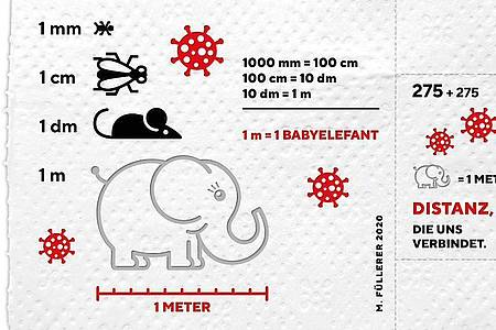 Die Österreichische Post bringt eine Corona-Sonderbriefmarke aus dreilagigem Klopapier heraus. Foto: -/Österreichische Post AG/dpa