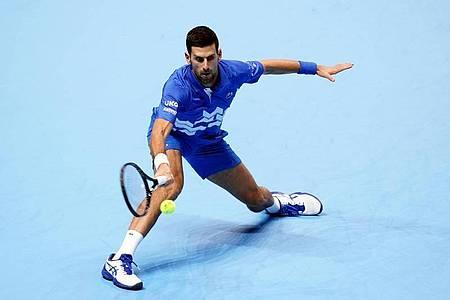 Hat sich klar gegen den Argentinier Diego Schwartzman durchgesetzt: Novak Djokovic in Aktion. Foto: John Walton/PA Wire/dpa