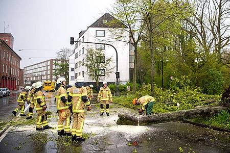 Feuerwehreinsatz in Bremen. Foto: Sina Schuldt/dpa