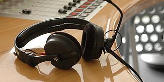 Kopfhörer im Studio