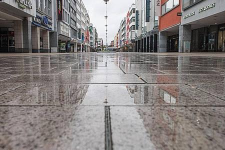 Die große Leere in Saarbrücken. Foto: Oliver Dietze/dpa