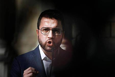 Pere Aragones, Vizepräsident von Katalonien und Kandidat der katalanischen Regionalpartei ERC. Foto: Kike Rincón/EUROPA PRESS/dpa