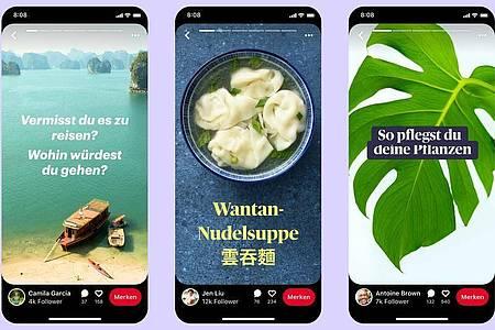 Mit einer neuen Story-Funktion will die Plattform Pinterest interaktiver werden. Foto: Pinterest/dpa-tmn