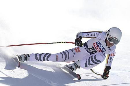 Fuhr im Super-G in Val di Fassa hinterher: Kira Weidle. Foto: Alessandro Trovati/AP/dpa