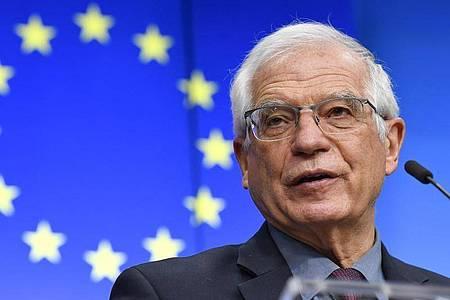 Josep Borrell, EU-Außenbeauftragter, hat die Türkei aufgefordert, ihren Austritt aus der Istanbul-Konvention rückgängig zu machen. Foto: John Thys/Pool AFP/AP/dpa