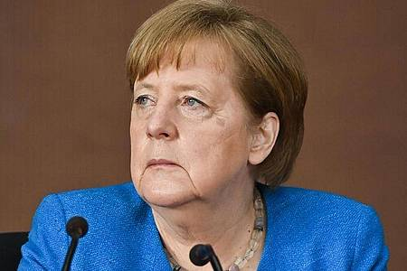 Bundeskanzlerin Angela Merkel am vergangenen Freitag in Berlin. Foto: John Macdougall/AFP-Pool/dpa