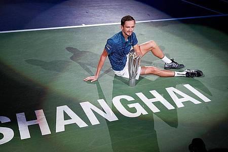 Vorjahressieger Daniil Medwedew wird seinen Titel in Shanghai in diesem Jahr nicht verteidigen können. Foto: Andy Wong/AP/dpa