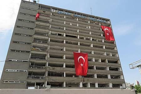 Das von Putschisten angegriffene Polizei-Hauptquartier in Ankara, aufgenommen im August 2016. Foto: picture alliance / dpa
