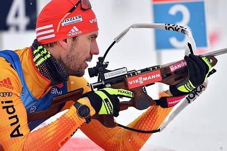 Bester Deutscher über 20 Kilometer in Antholz:Arnd Peiffer. Foto: Martin Schutt/dpa