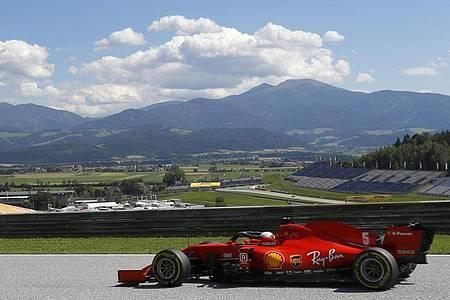 Sebastian Vettel kam in Österreich nur auf Platz zehn. Foto: Leonhard Foeger/pool Reuters/AP/dpa