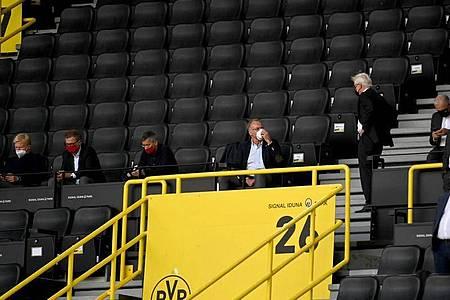 Auch Borussia Dortmund muss in der Corona-Krise weiter auf den Großteil der Zuschauer verzichten. Foto: Federico Gambarini/dpa-Pool/dpa