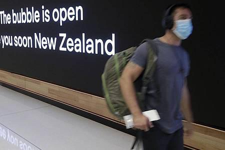 Bis bald: Reisen zwischen Australien und Neuseeland sind wieder ohne Quarantäne möglich. Foto: Rick Rycroft/AP/dpa