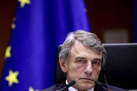 David Sassoli, Präsident des Europäischen Parlaments, während eines Plenums im Europäischen Parlament. Foto: Yves Herman/Reuters Pool/AP/dpa