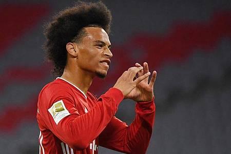 Bayern-Neuzugang Leroy Sané trifft gleich bei seinem Startelf-Debüt. Foto: Matthias Balk/dpa