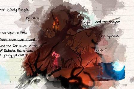 «Lost Words» erzählt die Geschichte in Form von Tagebucheinträgen - und mit Spielsequenzen. Foto: Modus Games/dpa-tmn