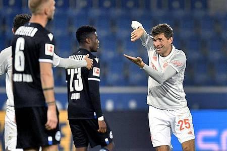 Hatte auch in Bielefeld wieder einen starken Tag: Bayern-Urgestein Thomas Müller. Foto: Martin Meissner/AP-Pool/dpa