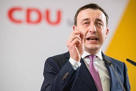 Generalsekretär Paul Ziemiak im November 2019 bei einem Landesparteitag der CDU. Foto: Oliver Dietze/dpa