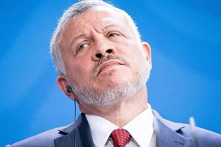 Gegner in der eigenen Familie? König Abdullah II. von Jordanien war zuletzt scharf von seinem Halbbruder Hamsa kritisiert worden. Foto: Kay Nietfeld/dpa