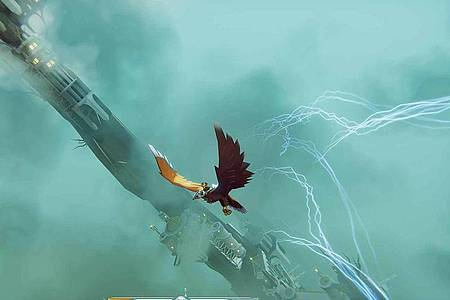 Große Panoramen:«The Falconeer» ist ein gefundenes Fressen für Fantasy-Fans. Foto: Wired Productions/dpa-tmn