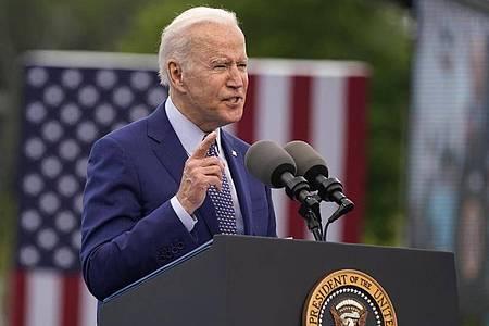 US-Präsident Joe Biden verhängt wegen der eskalierenden Corona-Pandemie in Indien eine Einreisesperre für Ausländer aus dem Land. Foto: Evan Vucci/AP/dpa
