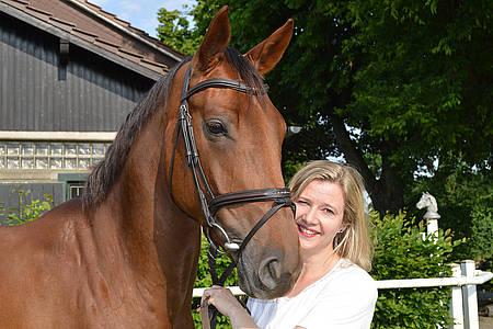 Ina Atig mit Ihrem Pferd