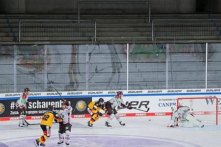 Anders als sonst: Auch der Deutschland Cup findet in diesem Jahr vor leeren Rängen statt. Foto: Rolf Vennenbernd/dpa