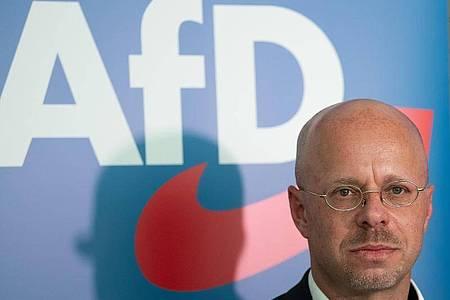 Andreas Kalbitz Mitte Mai im Landtag von Brandenburg. Foto: Soeren Stache/dpa-Zentralbild/dpa
