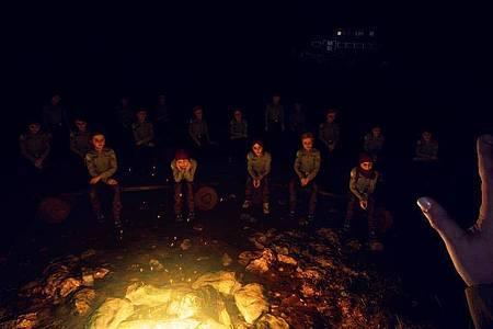 Dunkler Wald, warmes Lagerfeuer - und der perfekte Ausgangspunkt für unbewältigte Kindheitstraumata. Foto: CBE Software/dpa-tmn