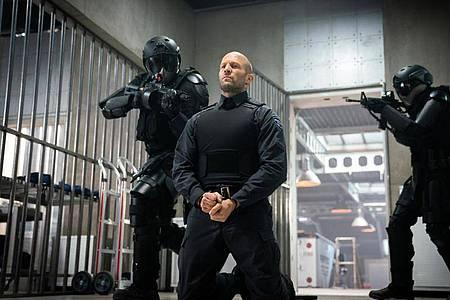 "Jason Statham als ""H"" in einer Szene des Films ""Cash Truck"". Foto: Christopher Raphael/Studiocanal GmbH/dpa"