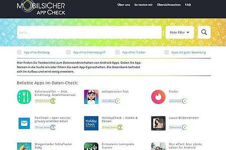 Der App-Check auf «Mobilsicher.de» zeigt, welche Anwendungen schnüffeln und welche nicht. Foto: Mobilsicher.de/dpa-tmn