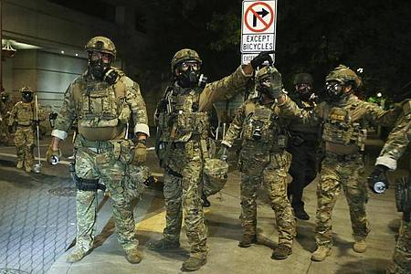 US-Bürgermeister laufen Sturm gegen Trumps Sicherheitskräfte. Foto: Dave Killen/The Oregonian/AP/dpa