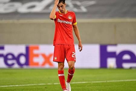 Am Ende schieden die Leverkusener um Havertz verdient aus. Foto: Marius Becker/dpa