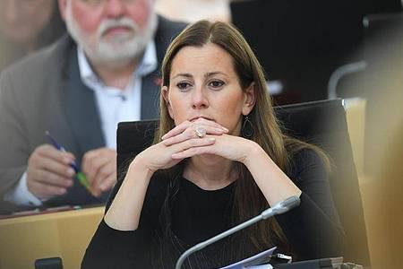 Janine Wissler (Die Linke), Fraktionsvorsitzende im Hessischen Landtag, will Bundesvorsitzende werden. Foto: Arne Dedert/dpa