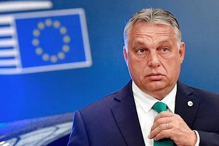 Die Beendigung der Fidesz-Mitgliedschaft in der EVP und in deren Fraktion folgte auf jahrelangen Streit. Foto: John Thys/AFP Pool/AP/dpa