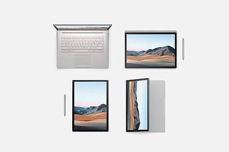 Das Surface Book 3 von Microsoft kostet mindestens 1.799 Euro - in der 13,5-Zoll-Variante. Wer zum 15-Zoll-Modell greift, zahlt mindestens 2.599 Euro. Foto: Microsoft/dpa-tmn