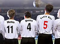 Fußballmannschaft von hinten