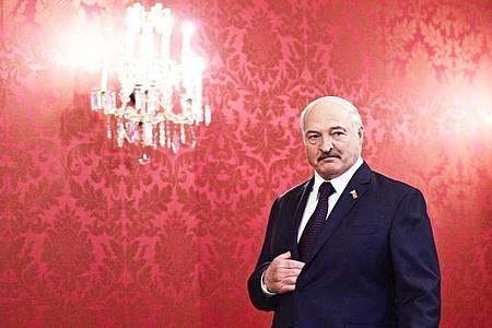 Weißrusslands Präsident Alexander Lukaschenko: «Es gibt hier absolut keine Katastrophe.». Foto: Hans Punz/APA/dpa
