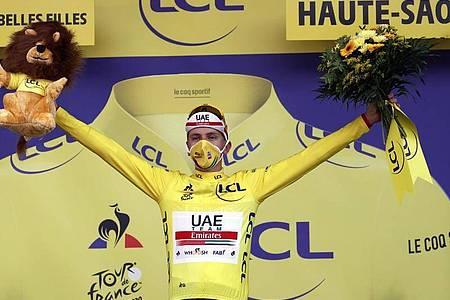 Designierter Tour-Sieger: Tadej Pogacar. Foto: Pool/BELGA/dpa
