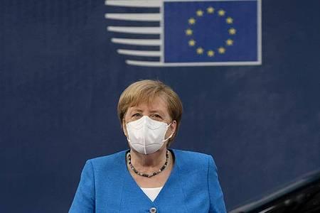 Hat auf dem EU-Sondergipfel zur Bewältigung der Corona-Wirtschaftskrise hart verhandelt:Bundeskanzlerin Angela Merkel. Foto: -/EU/XinHua/dpa