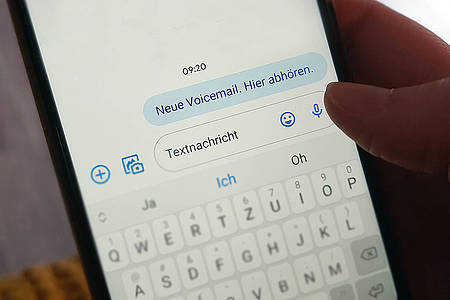 Smishing-SMS mit neuer Voicemail