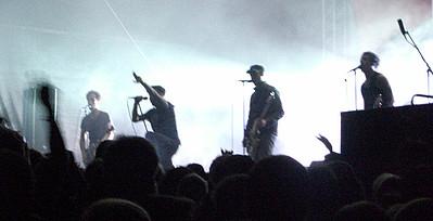 Band auf der Bühne bei einem Konzert