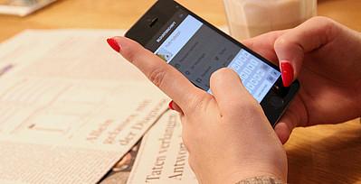 Smartphone in Benutzung