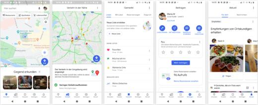 Screenshots Google Maps