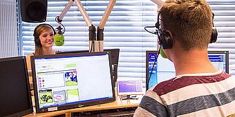 Sendestudio von Radio WAF deinfm
