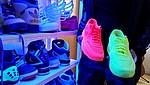 Neonpinke und gelbe Sneaker