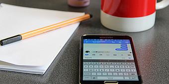 Smartphone mit Messengerdienst