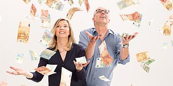 Ina Atig und Markus Bußmann im Sommergeldregen