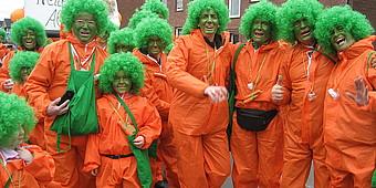 Verkleidet als Karotten in Sendenhorst