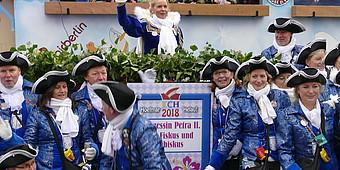 Gruppe verkleideter Jecken aus Hoetmar