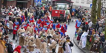 Verkleidete Jecken aus Sendenhorst